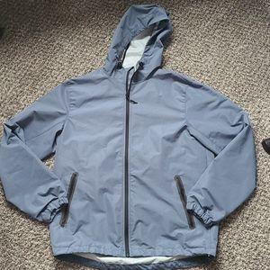 Old Navy Mens Water Resistant Hooded Rain Jacket